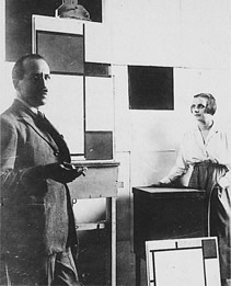 Mondrian and Nelly Van Doesburg in atelier 26, ave du depart. May 1923. Photograph private collection, Amsterdam.